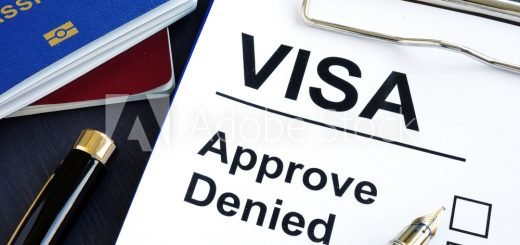 Visa approve or denied and passport. Immigration.